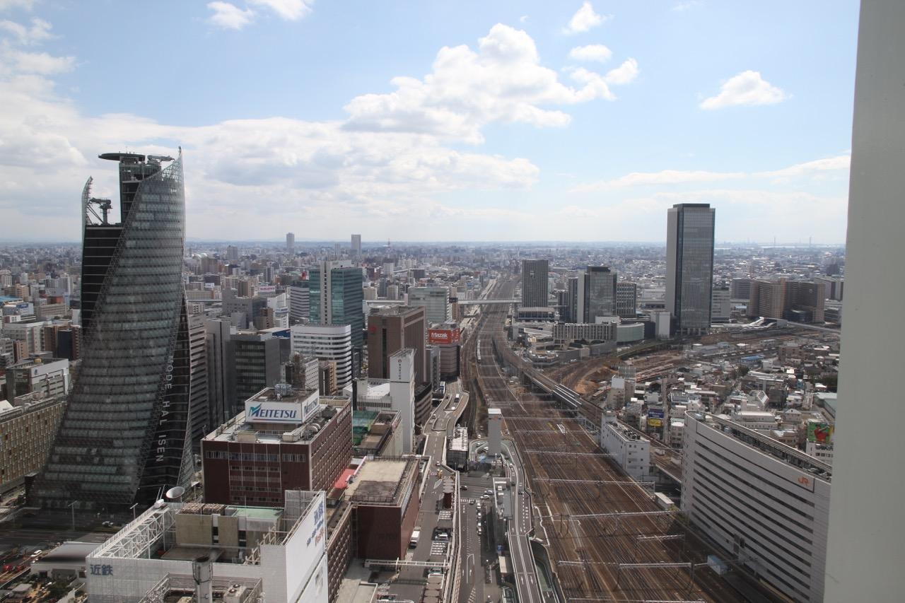 10.3. Nagoyan maisemaa rautatieaseman hotellin ikkunasta