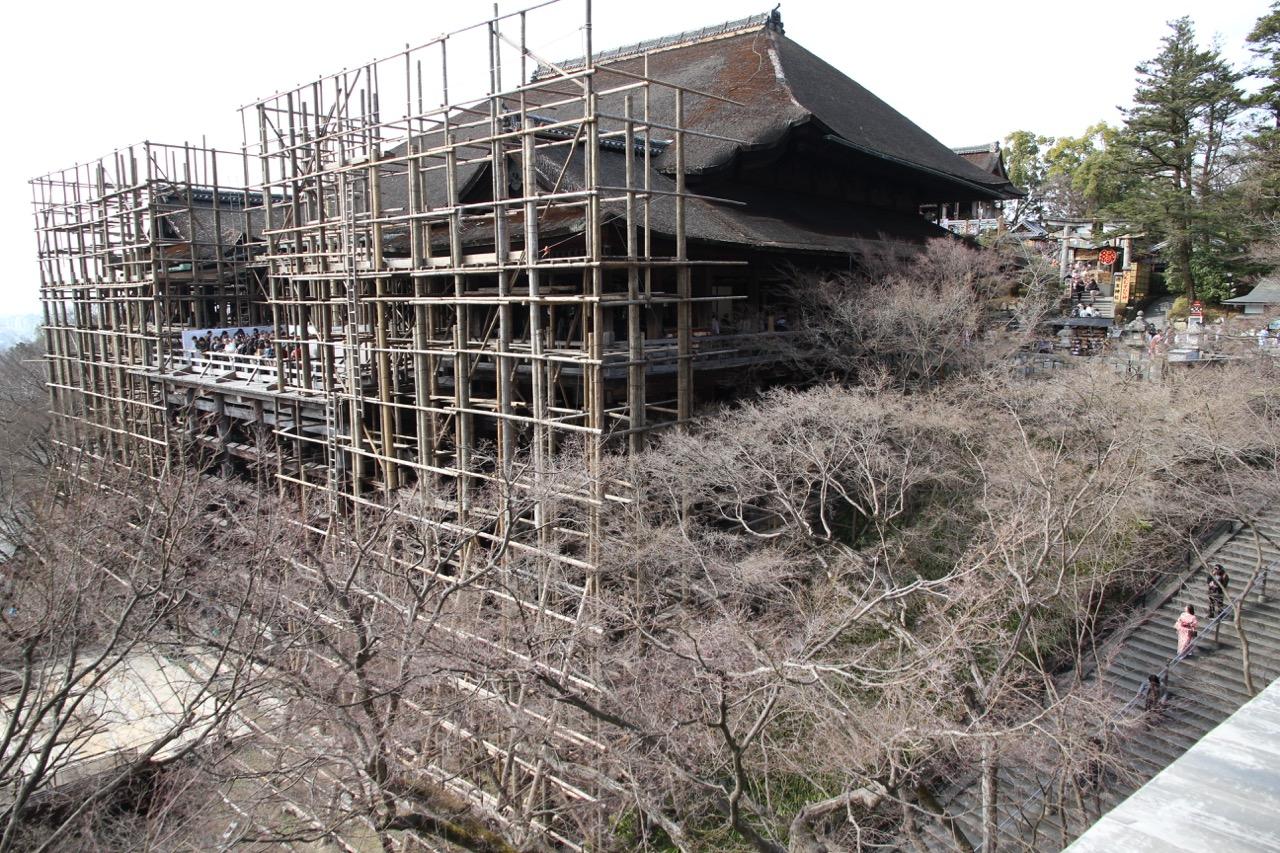 Kyomizuderaa restauroidaan